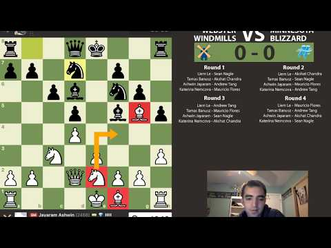 PRO Chess League Commentary with IM Rosen: Webster Windmills vs Minnesota Blizzard