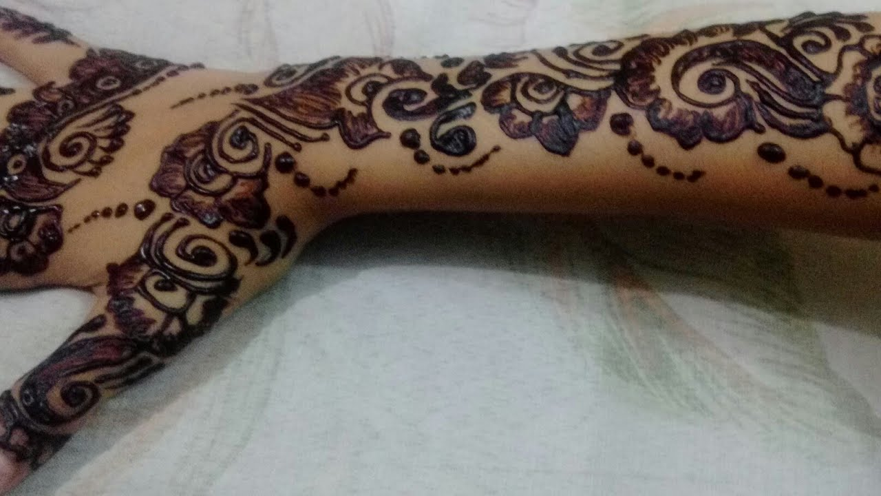 Simple and Easy New Arabic Bail For Henna Mehndi Design ...