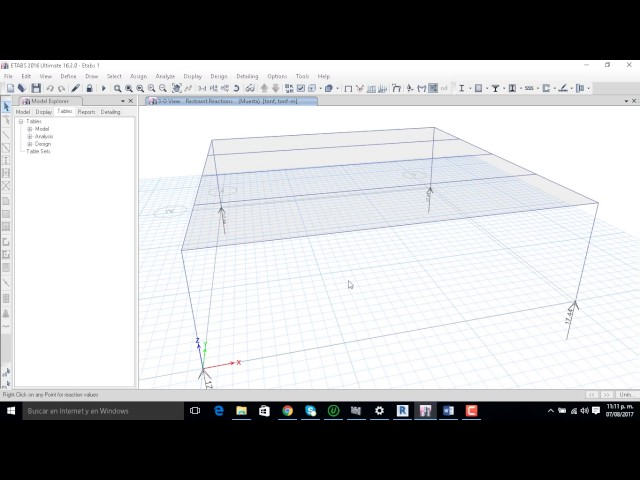 Comprobación de Análisis Gravitacional Structural Analysis for Revit vs Etabs parte 2