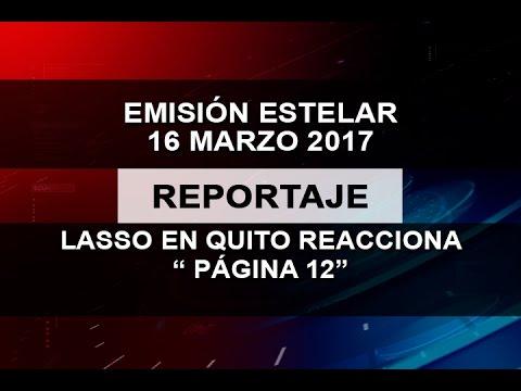 """LASSO EN QUITO REACCIONA """" PÁGINA 12"""""""
