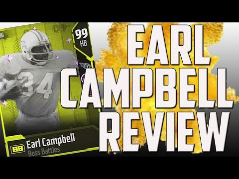 How Good is 99 Overall Boss Battle Earl Campbell? MUT 18 Card Review