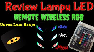 REVIEW Lampu LED Senja T10 ganti warna pake Remote mata Elang NJMX