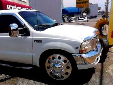 F350 Dually Wheels >> White 06 Ford f350 dually on 24s - YouTube