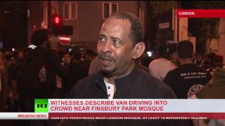 'He was raising his hand in victory' – Eyewitness on Finsbury Park van attacker