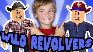 DAD VS SON in ROBLOX WILD REVOLVERS! | COWBOYS VS SHERIFFS BATTLEGROUNDS