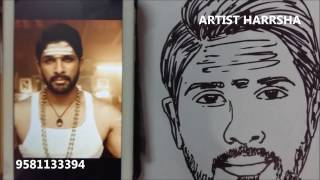 DJ Duvvada Jagannadham - ALLU ARJUN SKETCH By Artist Harrsha
