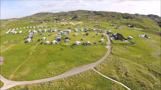 Clachtoll Beach Campsite - Aerial Footage
