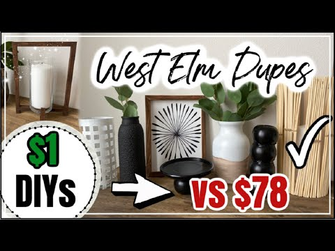 DOLLAR TREE DIY ROOM DECOR WEST ELM Inspired | Momma From Scratch