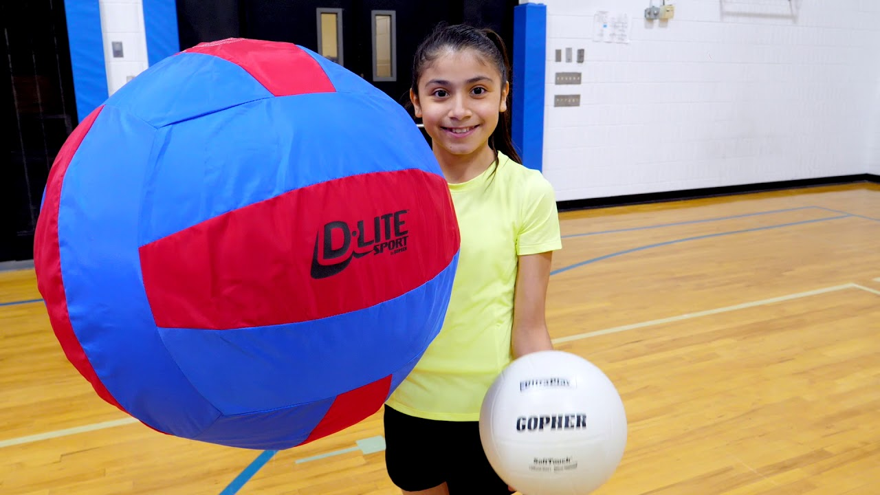 The Largest And Lightest Oversized Volleyball Youtube