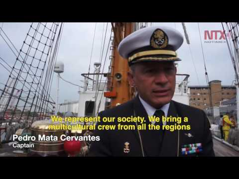 Mexican Navy training ship arrives to London