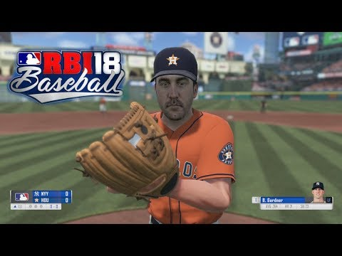 R.B.I. Baseball 18 Gameplay Houston Astros vs New York Yankees 3 Inning Game Xbox One