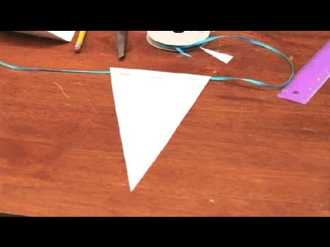 how to make flag banners for birthdays with scrapbook papers diy