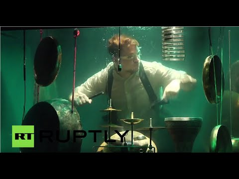 World's first underwater musical band performs in Netherlands