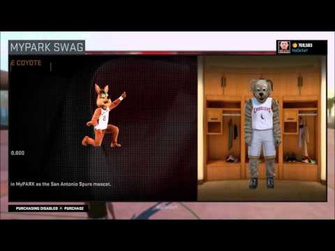 NBA 2K16 All Mascots! In My Park!