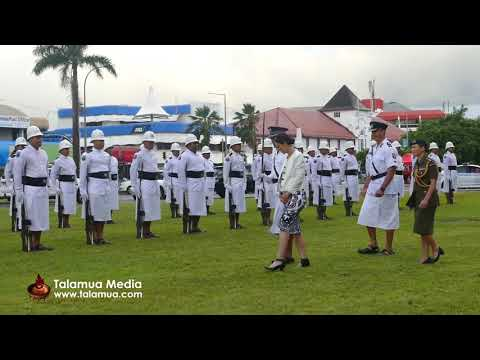 New Zealand Prime Minister, Jacinda Arden's visit to Samoa - Police Guard of Honour Inspection