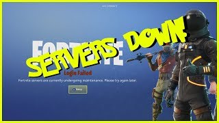 FORTNITE SERVERS DOWN! FREE VBUCKS FROM EPIC?