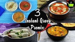 3 Instant Gravy Premix Recipe   3 Homemade Instant Gravy Powder   Red White Yellow Premixes Recipes
