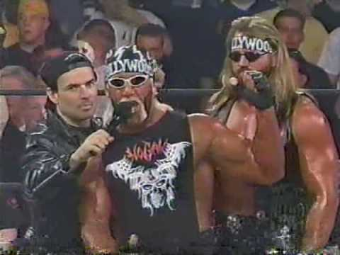 (04.20.1998) WCW Monday Nitro Pt. 1 - Hollywood Hogan on the mic with Bischoff & Disciple