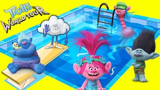 Dreamworks Trolls World Tour Swimming Pool with Summer DIY Play-Doh Toys #withme