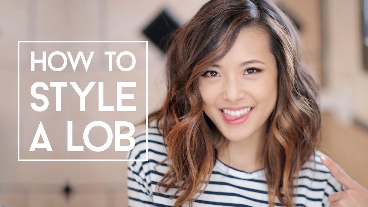 How To Style A Lob No Heat Amp Curls Youtube