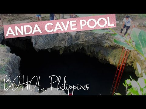 Cabagnow Cave Pool Anda Bohol Philippines