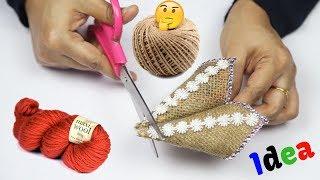 Easy Beautiful Jute craft ideas | Remarkable Home Decor Craft Ideas Using Jute