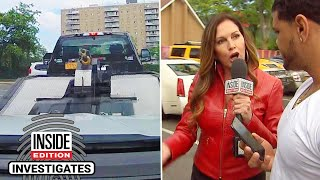 Download Aggressive Tow Truck Operator Waits to Pounce in McDonald's Parking Lot Mp3 and Videos