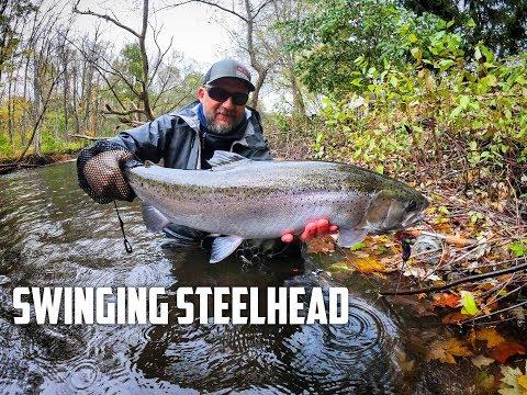 Steelhead On The Swing - Lightening Occasionally Strikes   Fly Fish The Mitt   October 2018
