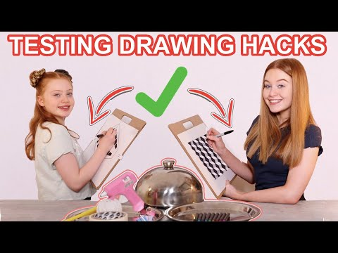 testing-10-viral-drawing-life-hacks-*diy-doodle-tricks-to-do-when-bored-at-home-|-ruby-and-raylee