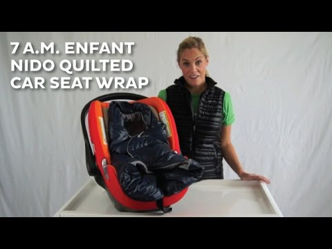 7 AM Enfant Nido Quilted Car Seat Baby Wrap REVIEW 2015