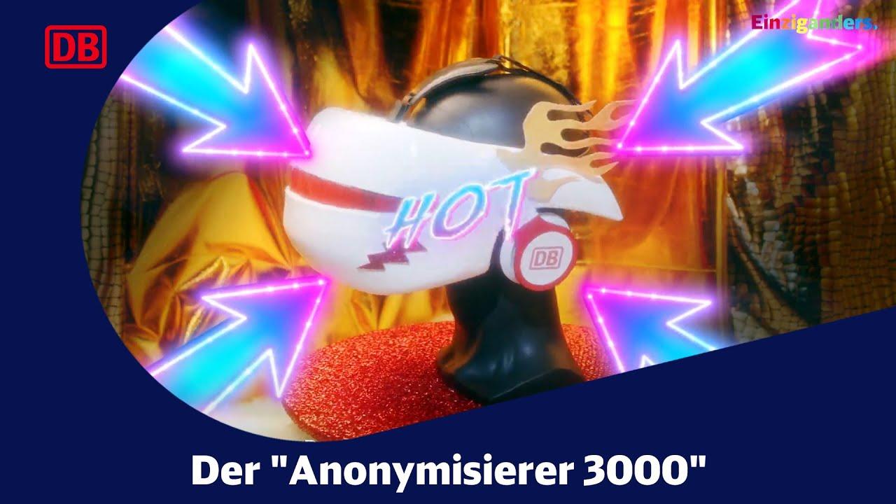 """Der """"Anonymisierer 3000"""" - eine Diversity Aktion der Deutschen Bahn."""