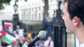 Martin Powell Performing @ The Free Palestine Protest - Downing St, Saturday 14th May