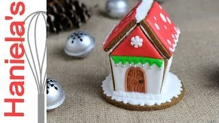 How To Make Mini Gingerbread Birdhouse, Decorate With Royal Icing