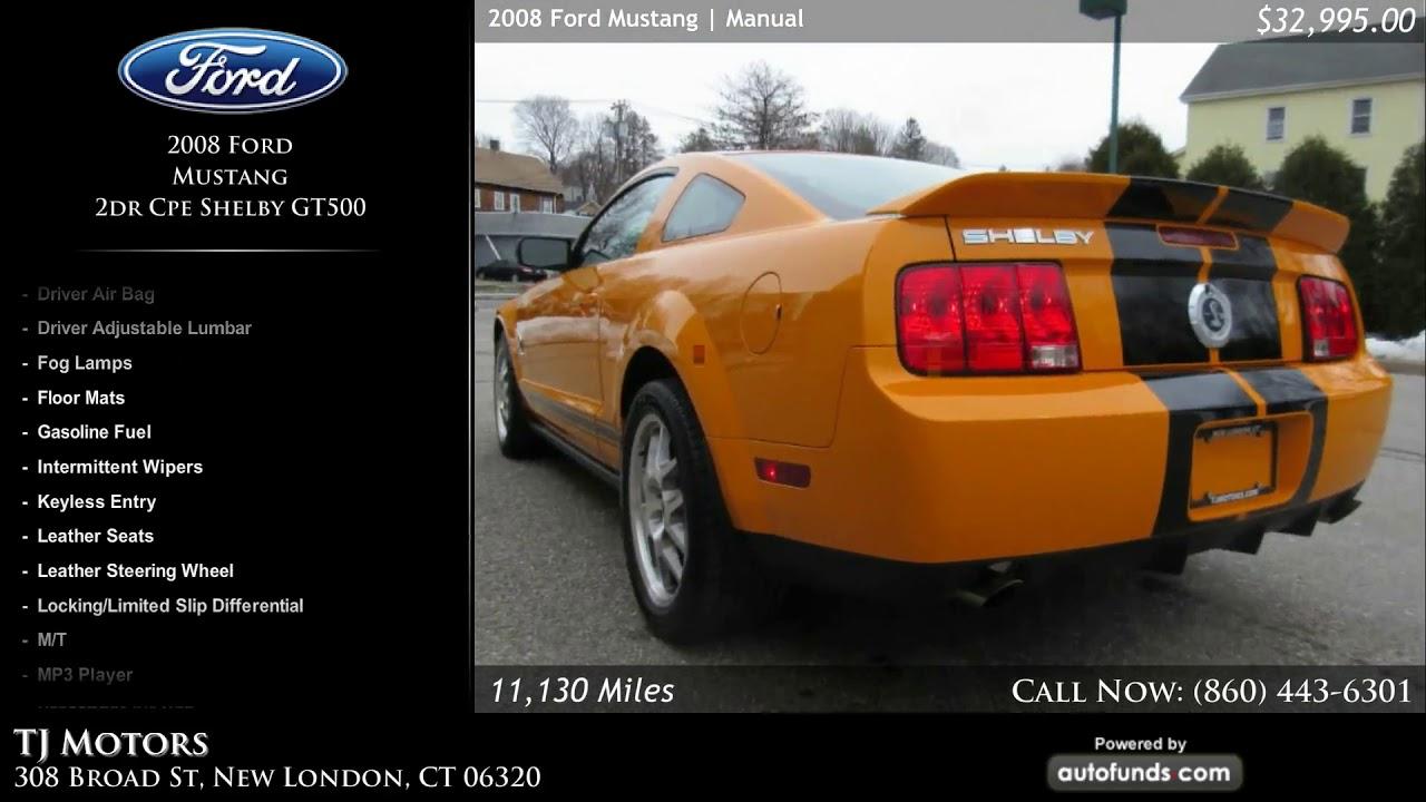 used 2008 ford mustang tj motors new london ct youtube rh youtube com Mustang Manual Shift Fender Mustang Manual