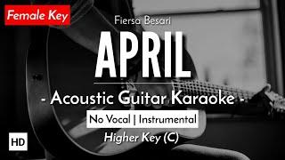 [FEMALE KARAOKE] April - Fiersa Besari [Gitar Akustik + Lirik]