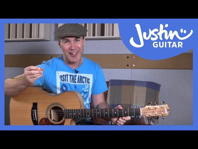 The E Chord   JustinGuitar.com