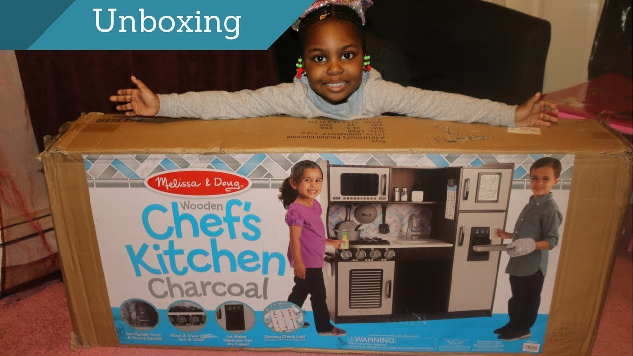 UNBOXING MY MELISSA & DOUG WOODEN CHEF KITCHEN