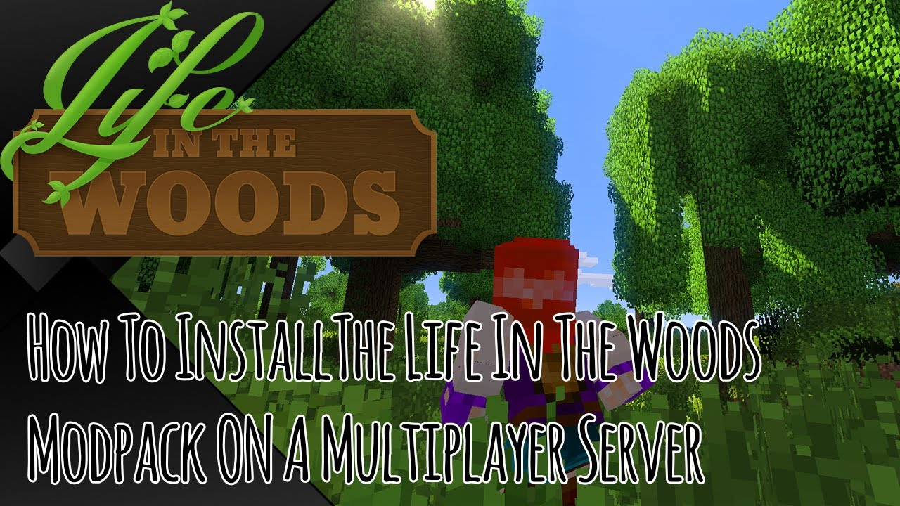 Tutorial How To Install Life In The Woods On A Multiplayer Server - Minecraft server erstellen life in the woods