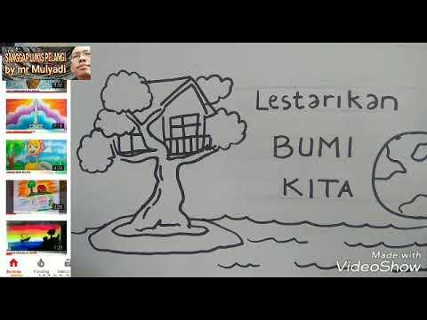 Menggambar Poster Bumi Kita Youtube