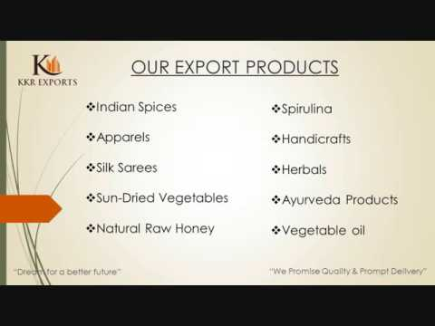 KKR EXPORTS PROFILE