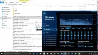 Instalar/Restaurar Dolby Advanced Audio/Dolby Home Theather Windows 10