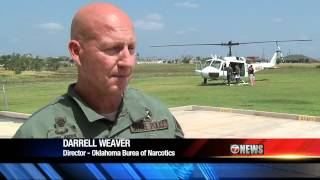 Oklahoma Bureau of Narcotics Helicopter Flight Over Lawton Oklahoma - KSWO Reporter Scott Miller