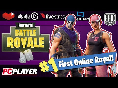 My first online royal! -  ( Fortnite: Battle Royale -  Live Streaming )