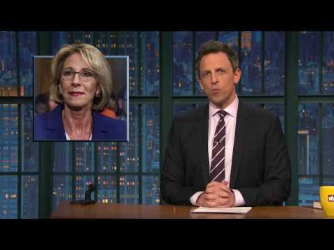 Late-night laughs: Betsy Devos is confirmed as education secretary