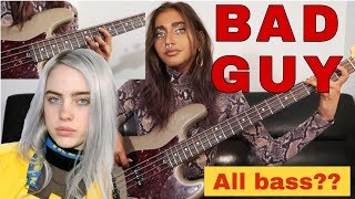 Billie Eilish - Bad Guy (All Bass - Bass Cover) Davie504