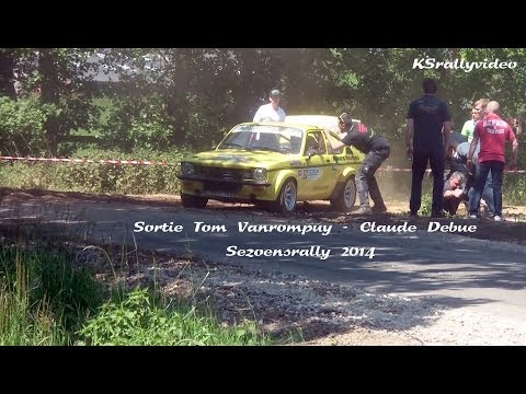 Crash Tom Van Rompuy @ Sezoensrally 2014 By KSrallyvideo [HD]