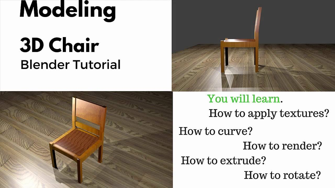 Modeling 3D Chair | Retro Design Chair | Blender Tutorial