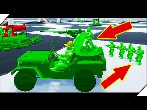 БИТВА ИГРУШЕЧНЫХ СОЛДАТ - Attack on Toys.Игра про игрушки. Война игрушек солдатиков