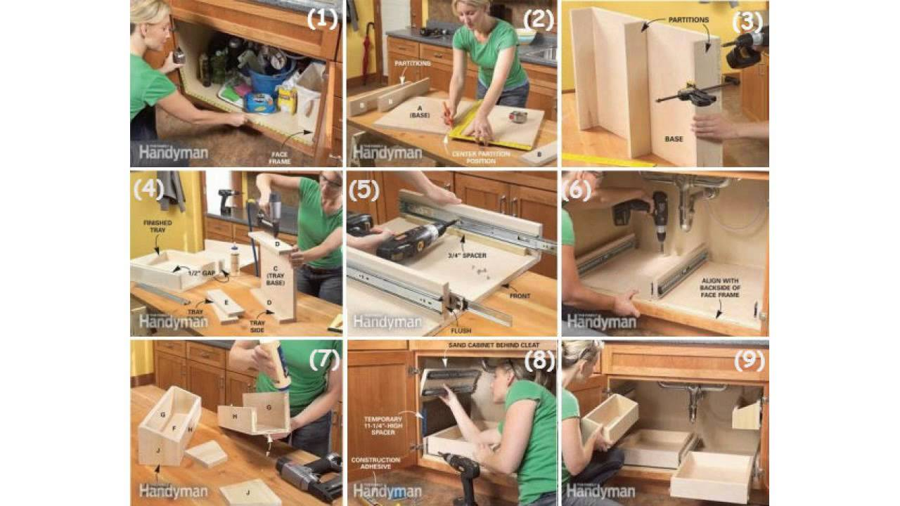 Diy under bathroom sink storage - Diy Storage Ideas How To Build Kitchen Storage Under The Sink