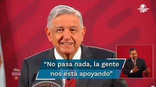 """El presidente Andrés Manuel López Obrador exhortó a sus opositores a que """"no coman ansias"""", puesto que en 2022 se realizará la consulta para la revocación de su mandato"""